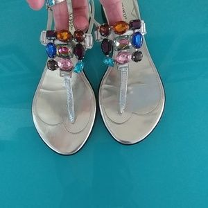 Franco Sarto Jeweled Sandals